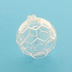 Scatolina per confetti in plexiglass forma pallone da calcio