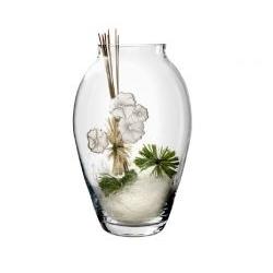 Vaso linea Rose in cristallo e placca argentata - Atelier