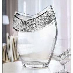 Vaso in cristallo GRIFFE in argento puro - Argenesi