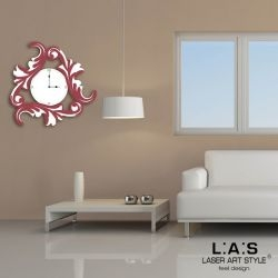 Orologio parete con decoro barocco stilizzato - Laser Art Style