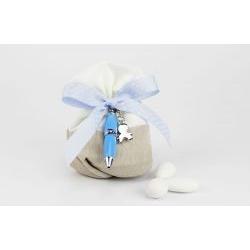 Sacchettino porta confetti con penna - bomboniera matrimonio / laurea Margot Italia