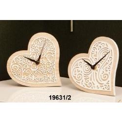 Orologio da tavolo in legno Cuore