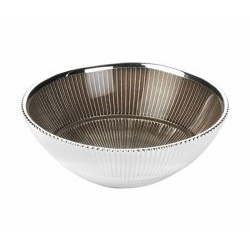 Ciotola CANNETè in argento e vetro - Argenesi