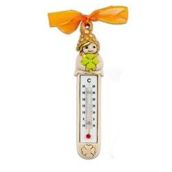 Termometro con folletto della fortuna e quadrifoglio bomboniere comunione- Memory 2016