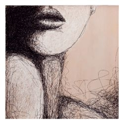 Quadro stampa serigrafica 100x100 con cornice - L'Oca Nera