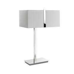 Lampada da tavolo square in metallo cromato - L'OCA NERA