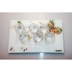 Set bicchieri liquore in vetro butterfly - Gai Mattiolo