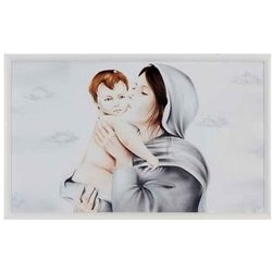 Capezzale - Aerografo Madonna con Bambino