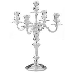 Candelabro ottagonale in argento
