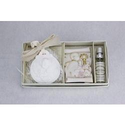 Icona in resina con gesso profumato e kit fragranza Prima Comunione