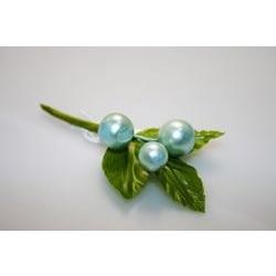 Addobbi - Rametto con foglie e perle