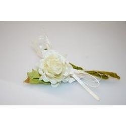 Addobbi - Mazzolino con rosellina e nastro
