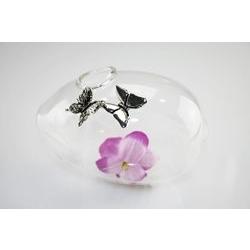Vasetto shangai ovale in con farfalle