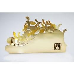 Portatovaglioli piuma dorato
