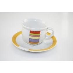 Tazza da caffè con decori geometrici colorati