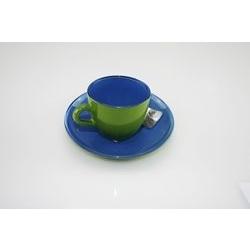 Tazza da caffè in vetro colorato