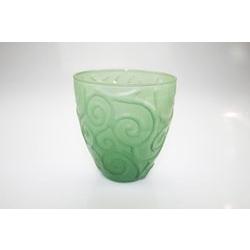 Bicchiere vino in vetro verde
