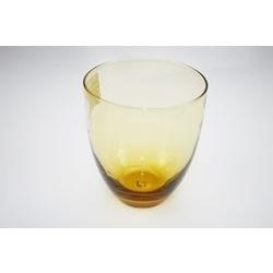 Bicchiere acqua in vetro ambra