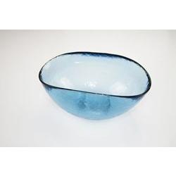 Coppetta in vetro blu