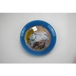 Piatto blu in vetro