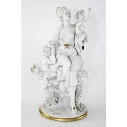 Dama con prole - porcellana di capodimonte