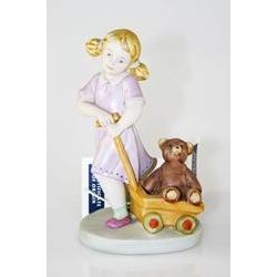 Bimba con orsacchiotto - porcellana di capodimonte