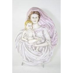 Madonna con bambino - porcellana di capodimonte