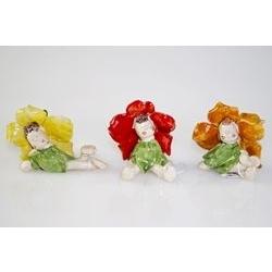 Folletto dentro fiore - porcellana