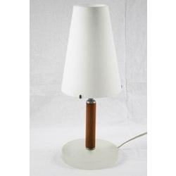 Lampada in vetro e legno
