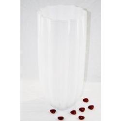 Vaso ampolla in cristallo bianco