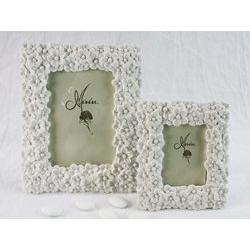 Cornice portafoto rettangolare con decoro floreale