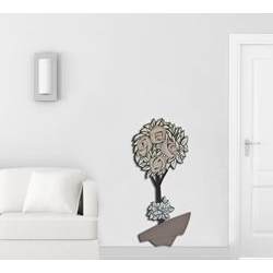 Quadro stile moderno - Vaso con fiori Laser Art Style