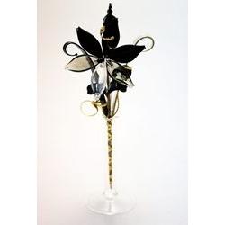 Bomboniera fiore e bicchiere in cristallo - piccolo