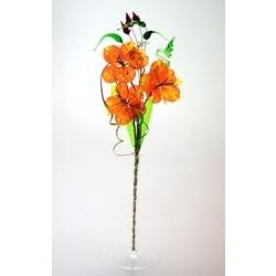 Bomboniera fiore e bicchiere in cristallo - grande