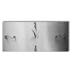 Orologio da parete in legno - color argento