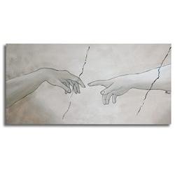 Tela rappresentante le mani della creazione