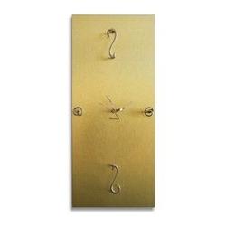 Orologio da parete in legno - color oro