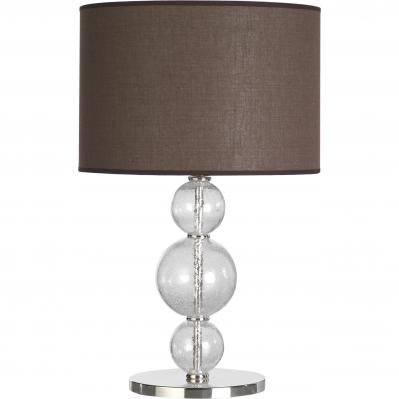 Lampada in vetro DOLCEVITA h.60cm 3 SFERE c/paralume MARRONE Ø30cm