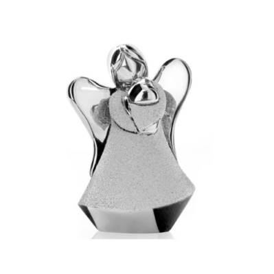Bomboniere angelo con cuore in resina e argento comunione- Memory 2016