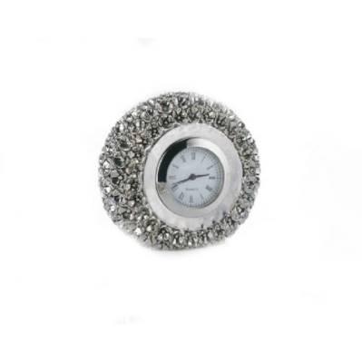 Orologio fiori rivestito d'argento - bomboniera matrimoni Memory