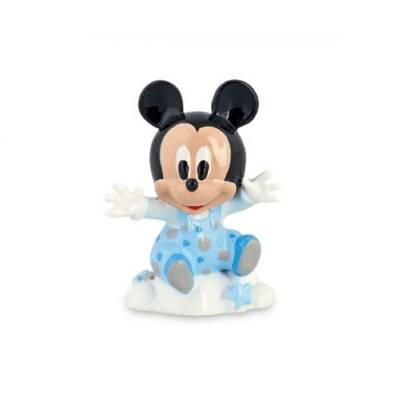 Bomboniera Disney in resina topolino azzurro su nuvola
