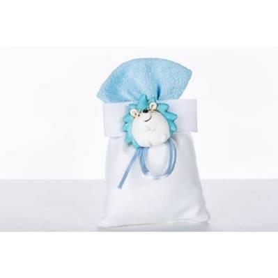 Sacchetto porta confetti nascita con Riccio - BOMBONIERE SOLIDALI