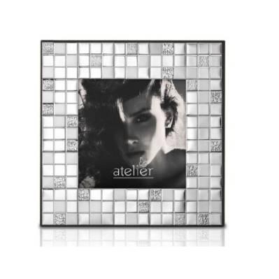 Portafoto/specchiera linea Mosaico argentato - Atelier