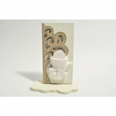 Pannello Albero della vita in legno con icona Comunione - Collezione 2020