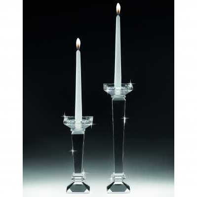 Candeliere stile pilastro basso in cristallo - RANOLDI
