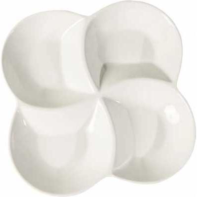 Piatto servizio porcellana con 4 scomparti - Collezione WALD