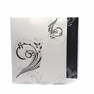Partecipazione Matrimonio su cartoncino quadrato bianco