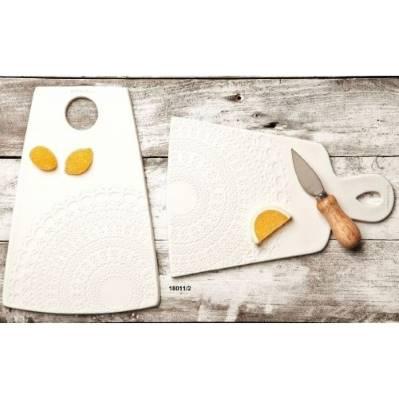 Tagliere in ceramica con coltello