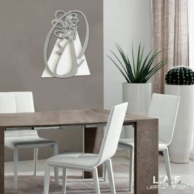 Quadri con angelo moderni Laser Art Style
