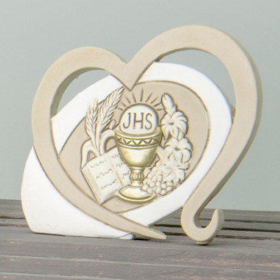 Icona in resina Cuore Sacra Famiglia